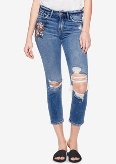 Silver Jeans Co. Mazy Embroidered Slim Cropped Jeans