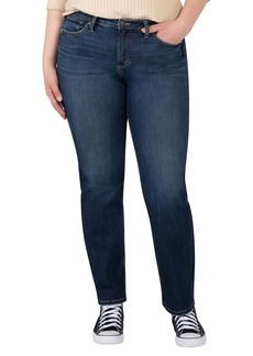 Silver Jeans Co. Most Wanted Straight Leg Jeans (Plus Size)