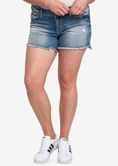 Silver Jeans Co. Plus Size Aiko Cutoff Denim Shorts