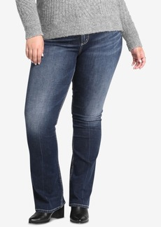 Silver Jeans Co Plus Size Avery High-Rise Curvy-Fit Boot-Cut Jeans