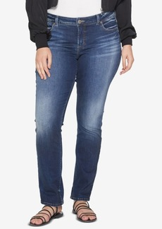 Silver Jeans Co. Plus Size Elyse Stretch Straight Jeans