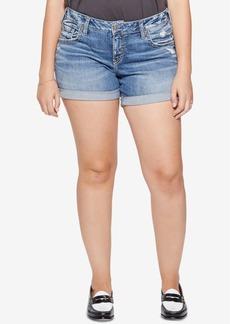 Silver Jeans Co. Plus Size Sam Boyfriend-Fit Denim Shorts