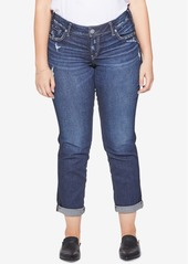 Silver Jeans Co. Plus Size Sam Boyfriend-Fit Jeans