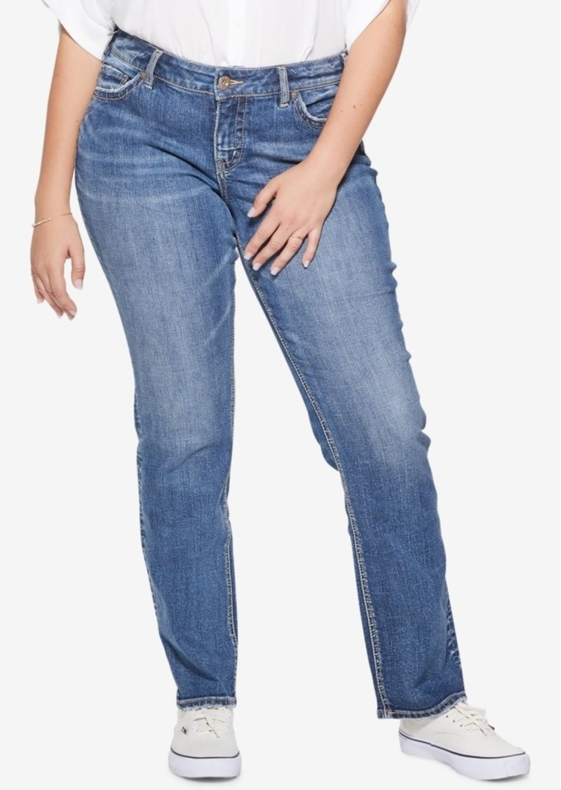 41c279f7500 Silver Jeans Silver Jeans Co. Plus Size Suki Stretch Straight Jeans ...