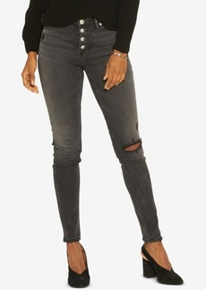 Silver Jeans Co. Robson Ripped Button-Fly Jeggings