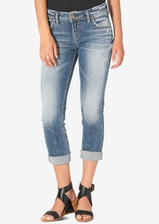 Silver Jeans Co. Sam Indigo Wash Cotton Boyfriend Jeans