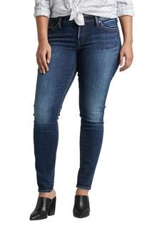 Silver Jeans Co. Suki High Waist Skinny Jeans (Plus Size)