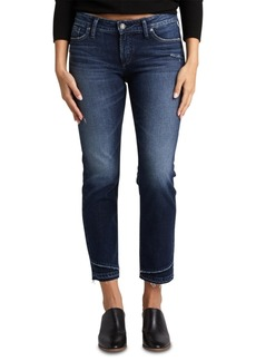 Silver Jeans Co. Suki Lightly-Ripped Slim Jeans