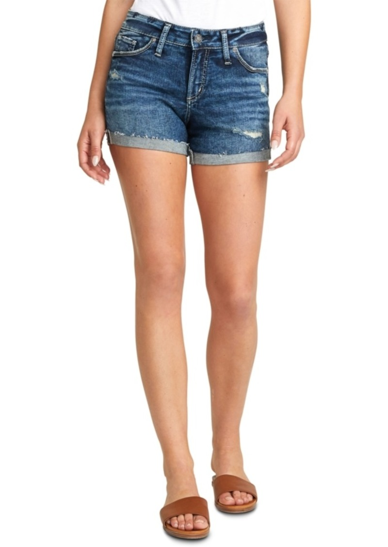 Silver Jeans Co. Suki Ripped Denim Shorts