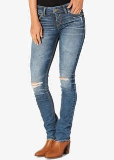 Silver Jeans Co. Suki Ripped Indigo Wash Straight-Leg Jeans