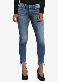 Silver Jeans Co. Tuesday Raw-Hem Skinny Jeans
