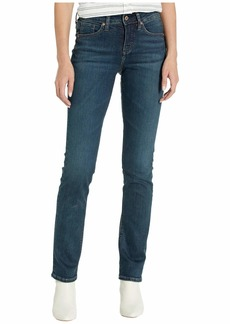 Silver Jeans Co. Women's Avery Curvy Fit High Rise Straight Leg Jeans  30x32