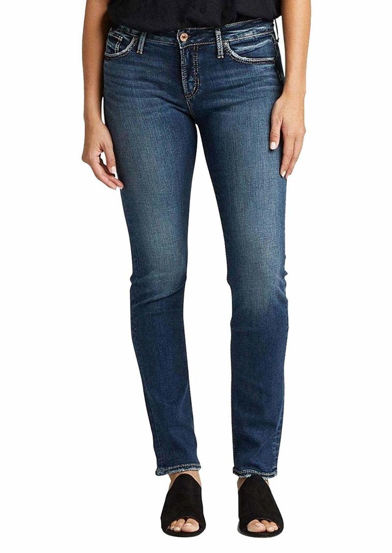 Silver Jeans Co. Women's Avery High Rise Straight Leg Jeans  32W X 32L