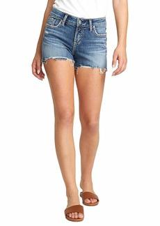 Silver Jeans Co. Women's Elyse Curvy Fit Mid Rise Short  W
