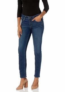 Silver Jeans Co. Women's Elyse Curvy Fit Mid Rise Straight Leg Jean
