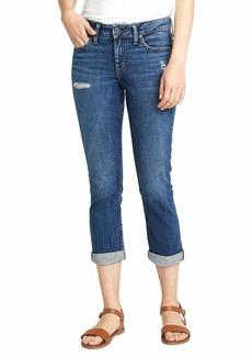 Silver Jeans Co. Women's Elyse Mid Rise Capri Jeans  W