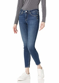 Silver Jeans Co. Women's Elyse Mid Rise Skinny Jeans
