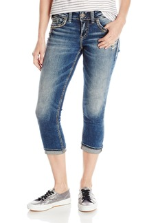 Silver Jeans Co. Women's Elyse Relaxed Fit Mid Rise Capri