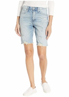 Silver Jeans Co. Women's Frisco Vintage High Rise Knee Shorts Light