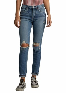 Silver Jeans Co. Women's Frisco Vintage High Rise Tapered Leg Jeans  30W X 28L