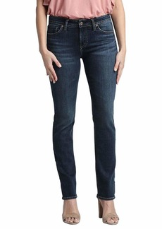 Silver Jeans Co. Women's Plus Size Avery Curvy Fit High Rise Straight Leg Jeans