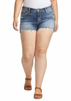 Silver Jeans Co. Women's Plus Size Elyse Curvy Fit Mid Rise Short  18W X 5L