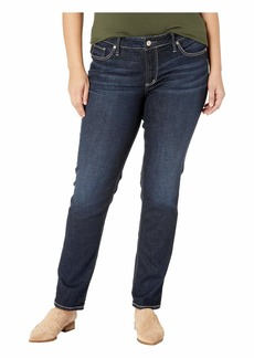 Silver Jeans Co. Women's Plus Size Elyse Relaxed Fit Mid Rise Straight Leg