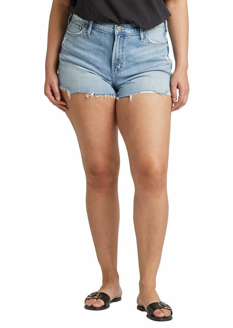 Silver Jeans Co. Women's Plus Size Frisco High-Rise Vintage Shorts True Wash