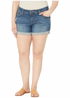 Silver Jeans Co. Women's Plus Size Mid-Rise Boyfriend Short