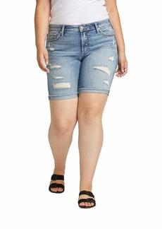 Silver Jeans Co. Women's Plus Size Suki Bermuda Shorts  22W X 10L