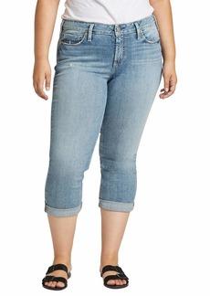 Silver Jeans Co. Women's Plus Size Suki Curvy Fit Mid Rise Capri Jeans  W