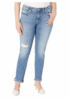Silver Jeans Co. Women's Plus Size Suki Curvy Mid Rise Straight Fit Jeans