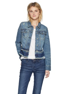 Silver Jeans Co. Women's Sahara-Jean Jacket with Fray Details