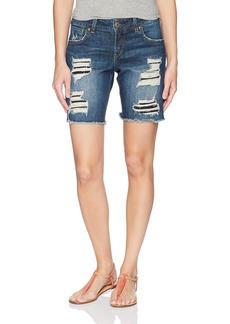 Silver Jeans Co. Women's Sam Mid Rise Boyfriend Bermuda Shorts