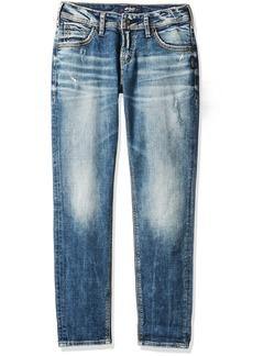 Silver Jeans Co. Women's Sam Mid Rise Boyfriend Jeans  x25