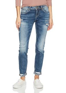 Silver Jeans Co. Women's Sam Mid Rise Boyfriend Jeans  x27