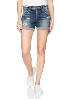 Silver Jeans Co. Women's Sam Mid Rise Boyfriend Shorts