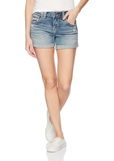 Silver Jeans Co. Women's Sam Mid Rise Boyfriend Shorts Light wash