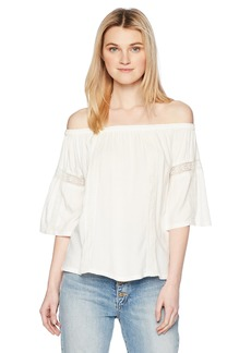 Silver Jeans Co. Women's Scheana Off-The-Shoulder Peasant Top  S