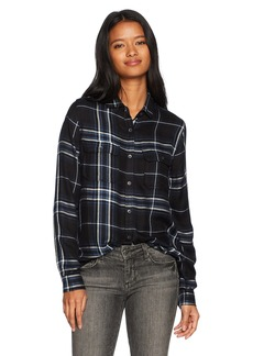 Silver Jeans Co. Women's Shana Plaid Shirt  L