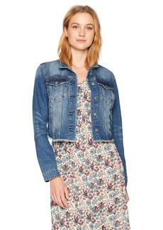 Silver Jeans Co.. Women's Shelby Cropped Girlfriend Denim Jacket  L