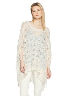 Silver Jeans Co.. Women's Sierra Fringe Poncho Sweater  M