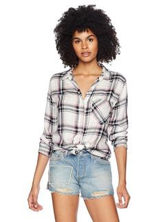 Silver Jeans Co.. Women's Stevie Frayed Plaid Shirt  M