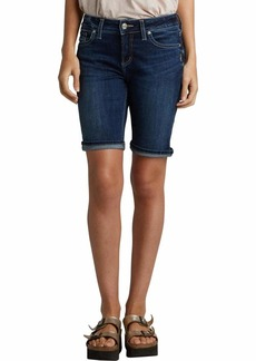 Silver Jeans Co. Women's Suki Curvy Fit Mid Rise Bermuda Shorts  28W X 9L