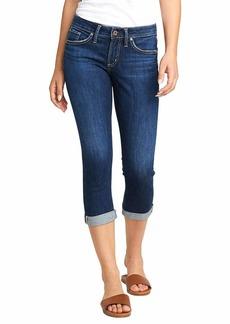 Silver Jeans Co. Women's Suki Curvy Fit Mid Rise Capri Jeans  W