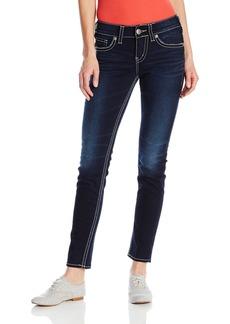 Silver Jeans Co. Women's Suki Curvy Fit Mid Rise Skinny Jeans Indigo 24x31