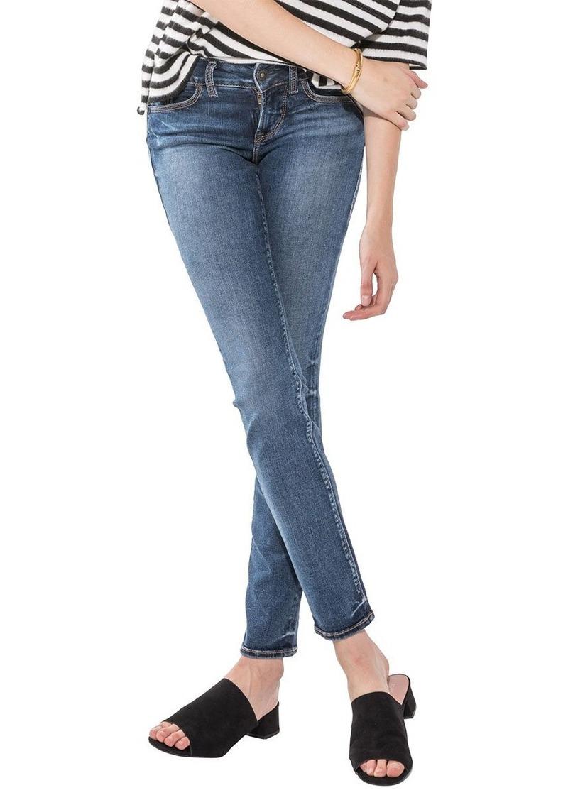 Silver Jeans Co Women's Suki Curvy Fit Mid Rise Straight Leg Jeans   27x32