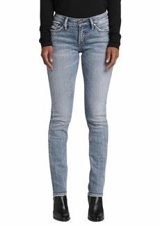 Silver Jeans Co. Women's Suki Curvy Fit Rise Straight Leg Jeans  34W X 32L