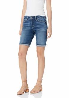 Silver Jeans Co. Women's Suki Mid Rise Bermuda Shorts  W