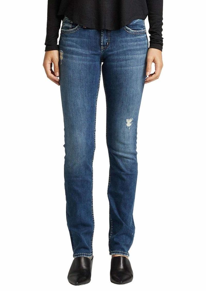 Silver Jeans Co. Women's Suki Mid Rise Straight Leg Jeans  33W X 30L